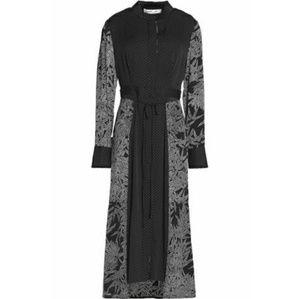 Diane Von Furstenberg Black & White Midi Dress